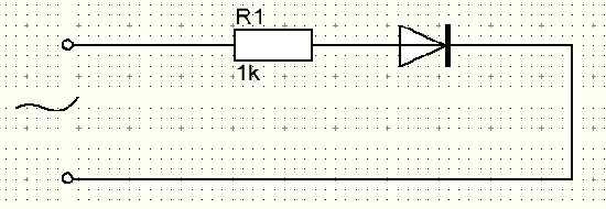 Включение диода в цепь переменного тока